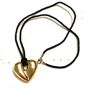 Gold Heart Necklace Vintage